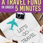 Are you wondering how to start a travel fund so you can go to all the places you have on your wish list? Here is how we save for our trips every year and do it quickly. #travel #savingmoney #travelfund #traveljar #savings #personalfinance