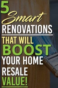 These 5 Renovations will give you the biggest return on investment when you are trying to resell your home | Renovations | Home value | Real estate | Flipping |