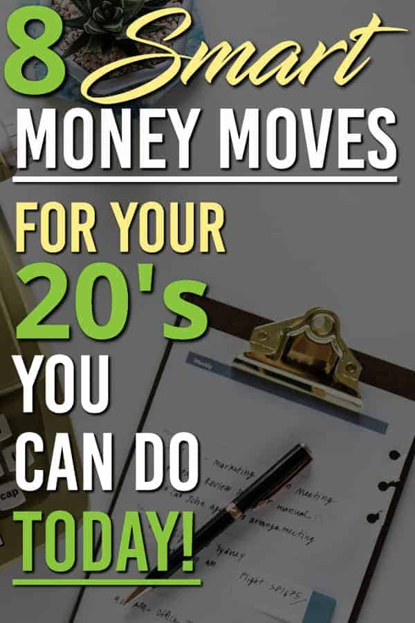 Looking to thrive with your money in your twenties? Here are 8 great money tips for your 20s to get you started on the right financial path!  These 8 items are keys to getting ahead financially in your 20s