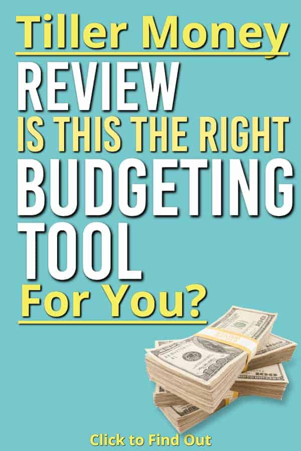 If you are love Google Sheets but hate bringing in your financial transactions we may have just the thing for you. Tiller Money is a budgeting spreadsheet that uses google sheets to import your transactions on a daily basis. Check out our Tiller Money review and see what this budgeting software can do for you. #budget #software