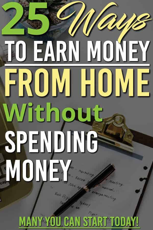 Are you looking for ways to make money with out putting any money into it? Have you heard about making money online, but don't know where to start? These ideas are how we got started to earn money online and are perfect for beginners to start trying to make money without putting money into it. #earncash #makemoney #makemoneyonline #makemoneyfromhome #earnmoney #workfromhome