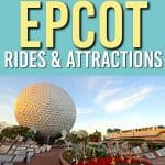 Want to make sure you aren't missing anything when you go to Epcot at Disney World? We have the full list of Epcot rides and attractions here. PLUS Fastpass suggestions so you know how to make the most of Epcot! #wdw #epcot #disney #disneyworld #familytravel #travel #family