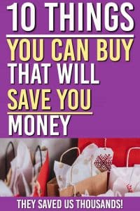 Looking for shopping ideas that will save you money? These frugal living ideas save us thousands every year. These are the simple products you can use every day and #frugal #frugaltips #money #moneytips #savingmoney #shopping #personalfinance