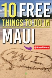 Headed to Maui? Then you will need these 10+ free things to do in Maui. These free ideas are perfect for your trip to Maui. It's all you want for when you get there. #hawaii #maui #free #thingstodo #familytravel