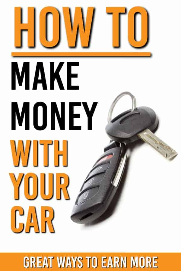 Time to earn money with your car? Here are 15+ ways you can earn money using your car, including make money driving and one way you won't have thought of. #earnmoney #makemoney #drive #earnmoneywithcar
