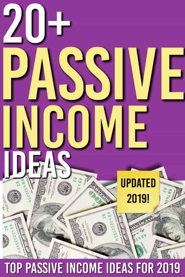 Searching for some passive income ideas? We have over 20 ideas you can use to get started on building passive income. #passiveincome #makemoney #passiveincomeideas