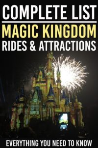 magic kingdom rides