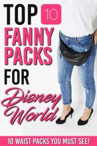 A Disney themed Fanny pack is the perfect and practical thing for your day in any of the Walt Disney World parks #fannypack #wdw #disney #disneytrip #familytrip #vacation #disneyworld #disneyworldvacation